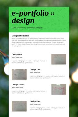 e-portfolio :: design