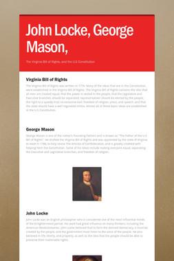 John Locke, George Mason,