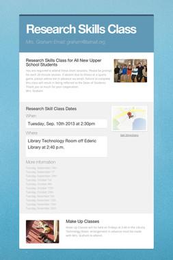 Research Skills Class