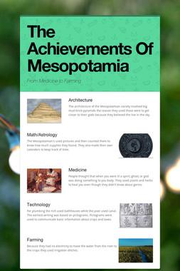 The Achievements Of Mesopotamia