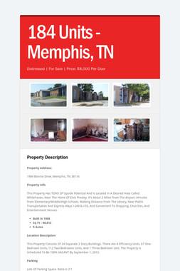 184 Units - Memphis, TN
