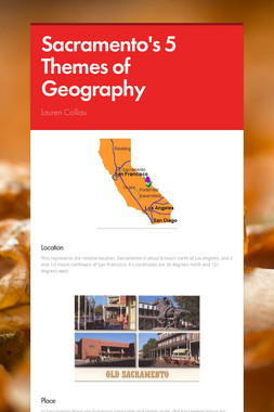 Sacramento's 5 Themes of Geography