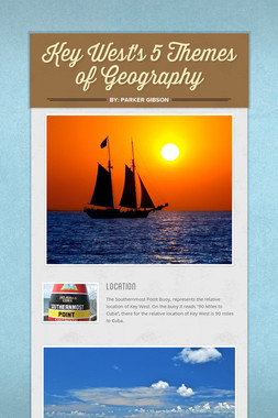 Key West's 5 Themes of Geography
