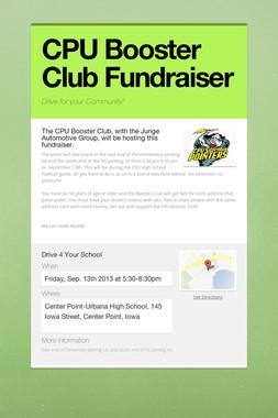 CPU Booster Club Fundraiser
