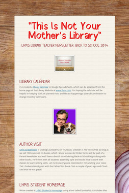 """This Is Not Your Mother's Library"""