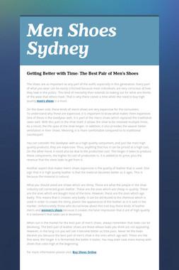 Men Shoes Sydney