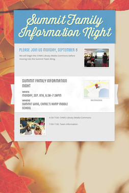 Summit Family Information Night