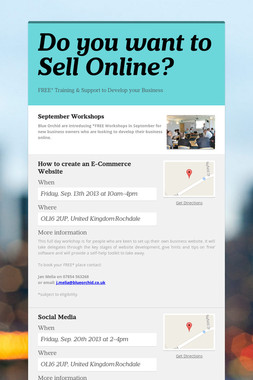 Do you want to Sell Online?