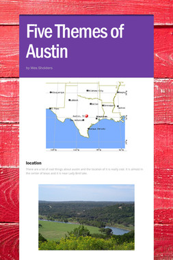 Five Themes of Austin