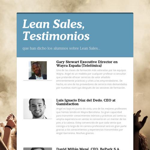 Lean Sales, Testimonios