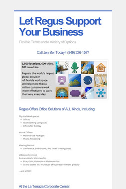Let Regus Support Your Business