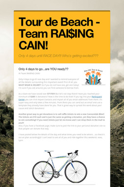 Tour de Beach - Team RAI$ING CAIN!