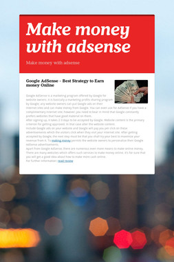 Make money with adsense