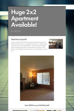 Huge 2x2 Apartment Available!