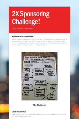 2X Sponsoring Challenge!