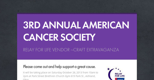 American Cancer Society Relay For Life 2013