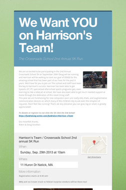 We Want YOU on Harrison's Team!