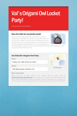 Val's Origami Owl Locket Party!