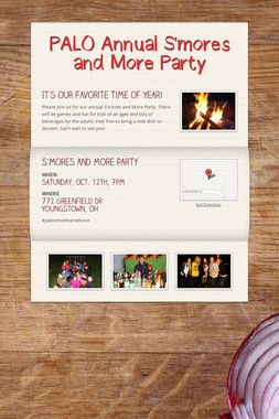 PALO Annual S'mores and More Party