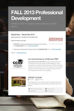 FALL 2013 Professional Development