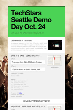 TechStars Seattle Demo Day Oct. 24