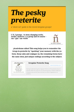 The pesky preterite
