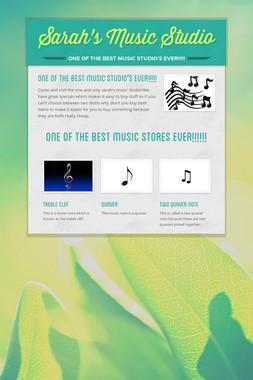 Sarah's Music Studio
