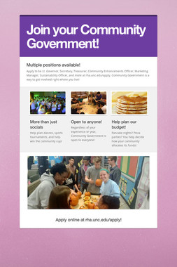 Join your Community Government!