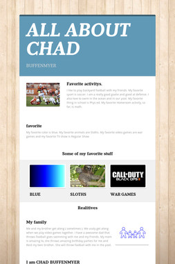 ALL ABOUT CHAD