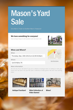 Mason's Yard Sale