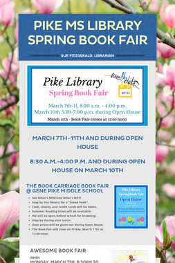 Pike MS Library Spring Book Fair