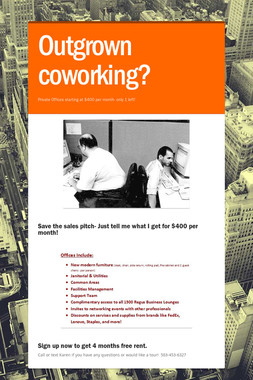 Outgrown coworking?