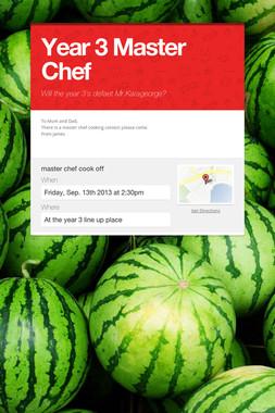Year 3 Master Chef