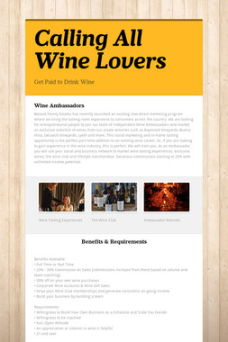Calling All Wine Lovers