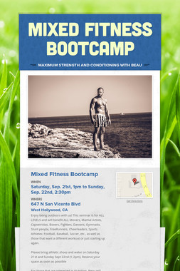 Mixed Fitness Bootcamp