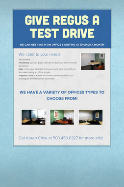 Give Regus a test drive
