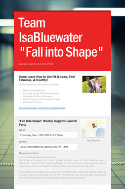 "Team IsaBluewater ""Fall into Shape"""