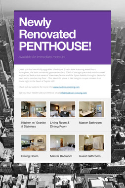 Newly Renovated PENTHOUSE!