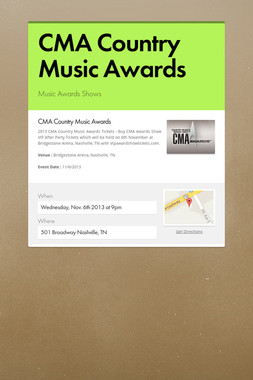 CMA Country Music Awards