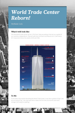 World Trade Center Reborn!