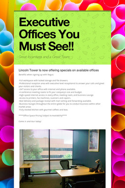 Executive Offices You Must See!!