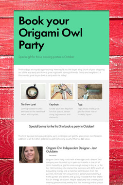 Book your Origami Owl Party