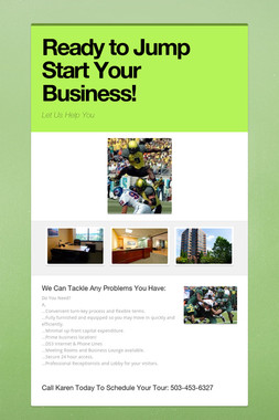 Ready to Jump Start Your Business!