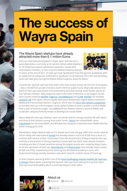 The success of Wayra Spain