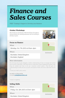 Finance and Sales Courses