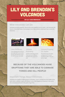 Lily and Brendan's Volcanoes