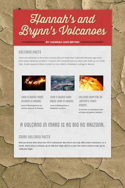 Hannah's and Brynn's Volcanoes