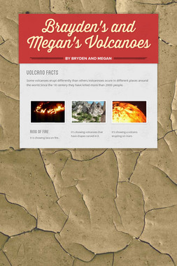 Brayden's and Megan's Volcanoes