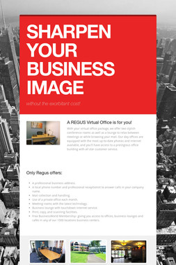 SHARPEN YOUR BUSINESS IMAGE