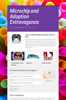 Microchip and Adoption Extravaganza